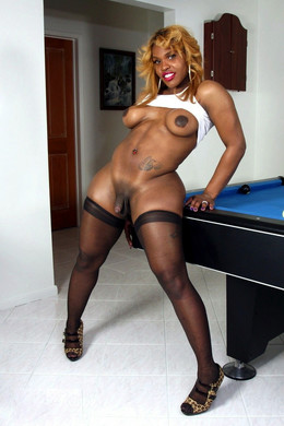 Redhead black shemale with thick hips..