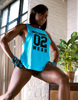 Athletic bodied ebony girls with..